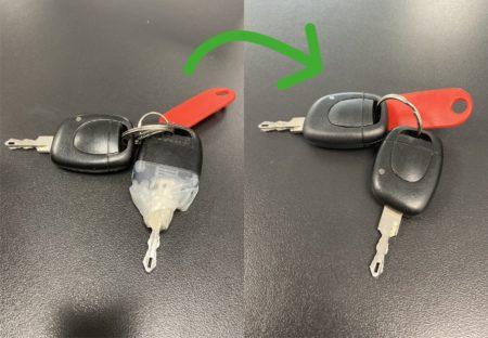 Un avantaprès d'une clé clio 2 réparé
